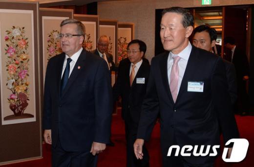 [사진]폴란드 대통령, 경제4단체 환영오찬 참석