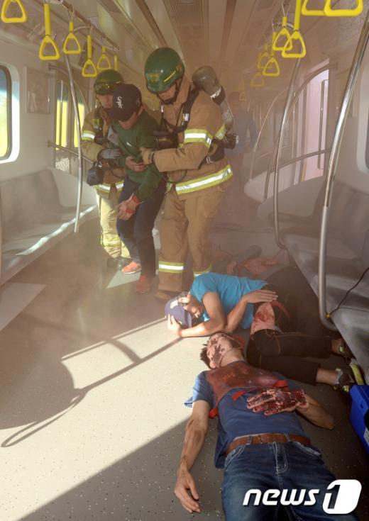 [사진]'지하철 테러가 일어난다면…'