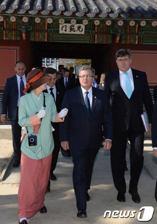 [사진]폴란드 대통령 창덕궁 방문