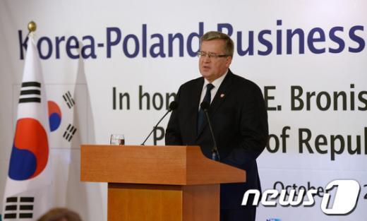 [사진]폴란드 대통령, 경제4단체와 오찬