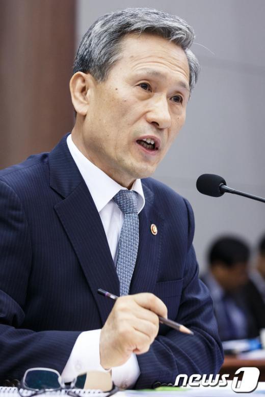 [사진][2013국감] 김관진 '사이버심리전, 국정원 협조 당연'