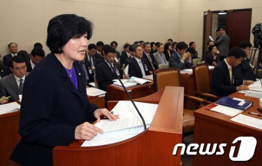 [사진][2013국감] 업무보고하는 유중근 총재