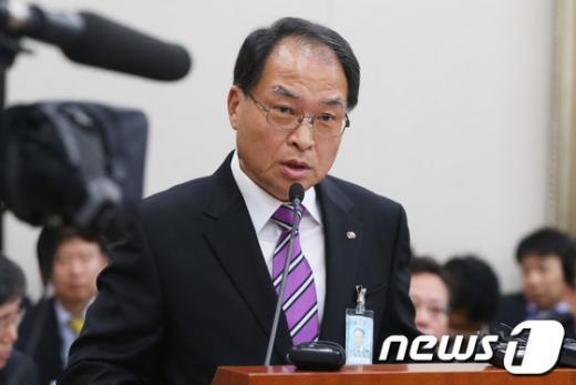 [사진][2013국감]박구원 한국전력기술 사장, 업무보고