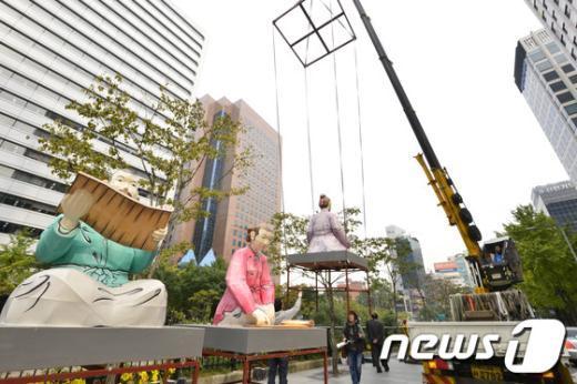 [사진]'서울 등축제 준비 차근차근'