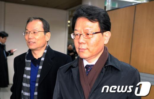김광수 전 금융정보분석원장(오른쪽). /뉴스1 © News1 안은나 기자