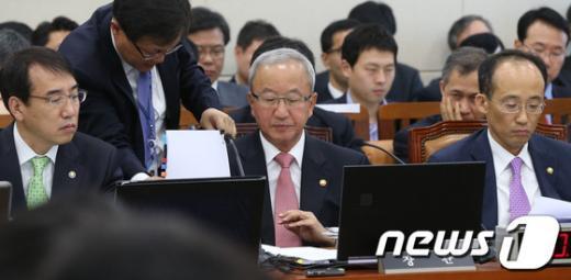 [사진][2013국감]기재위 국감 출석한 현오석 부총리
