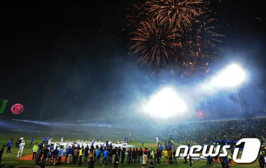 [사진]삼성 우승 '대구는 축제중'
