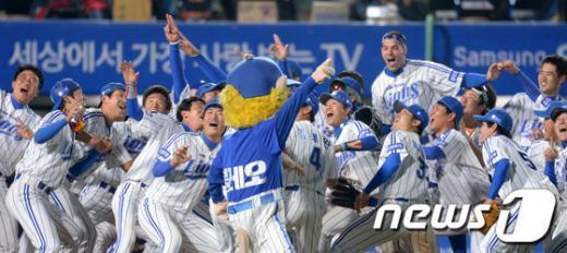 [사진]삼성라이온즈, 2013 프로야구 우승 GO!