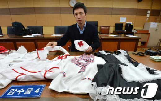 [사진]풀살롱 여종업원이 착용했던 홀복