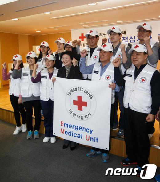 [사진]필리핀 긴급의료단 파이팅!