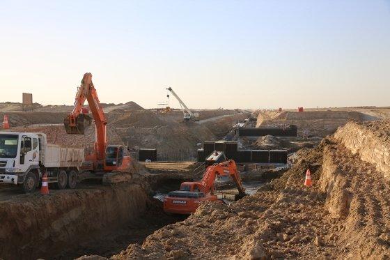 이라크 비스마야 신도시 지하공동구 공사현장. / 사진제공=한화건설