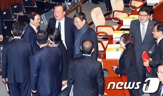 [사진]최재천, 예결위 '나홀로'