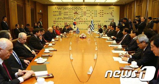 [사진]국회의장-그리스 대통령 환담