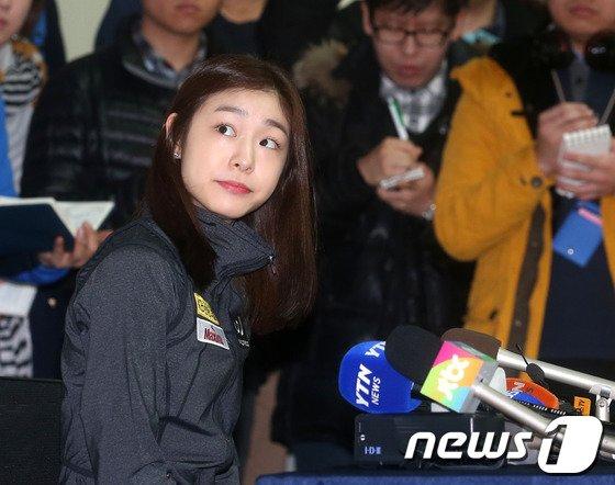 [사진]김연아, 놀란 모습도 귀여워