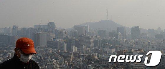 [사진]'미세먼지 덮인 서울'