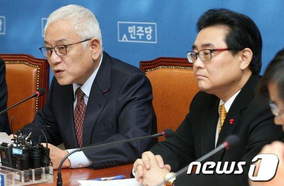 """[사진]김한길 """"국정원특위, 정치개입 봉쇄할 것"""""""