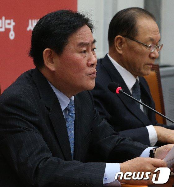 """[사진]최경환 """"장하나 윤리위에 제소하겠다"""""""