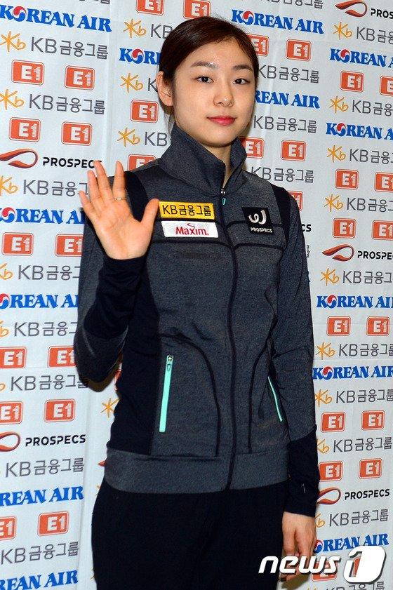 [사진]김연아 '기다려주셔서 감사합니다'