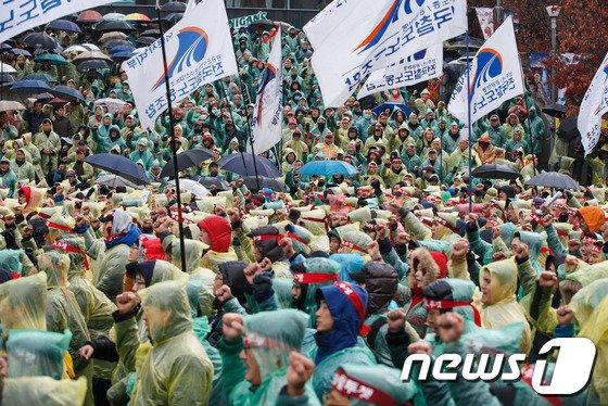 [사진]'철도 민영화 저지' 총파업 돌입한 철도노조