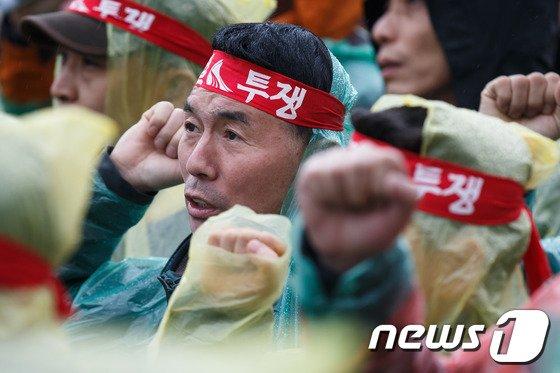 [사진]'철도 민영화 저지' 외치는 노조원