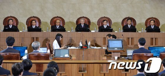 통상임금 소송 대법원 공개변론./뉴스1.© News1 박철중 기자