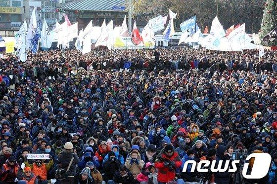 [사진]'철도민영화 저지, 노동탄압 분쇄'