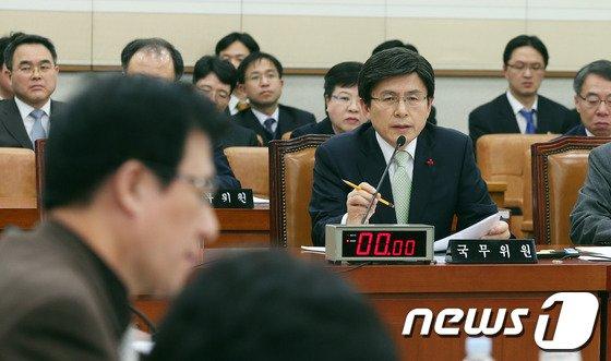 [사진]황교안 장관 '법사위 답변'