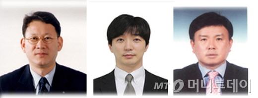사진 왼쪽부터 정성식 수석 부사장, 이성훈 부사장, 정진호 이사/사진제공=휠라코리아