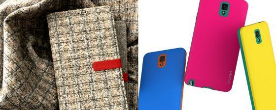 캐시미어 소재를 입힌 니트 다이어리(좌)와 다양하게 색상을 조합할 수 있는 교체형 케이스 / 사진=케이디랩 제공<br />