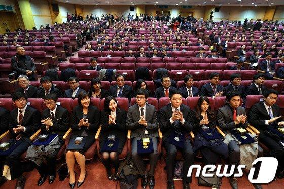 [사진]사법연수원 43기 수료식 '취업률은?'
