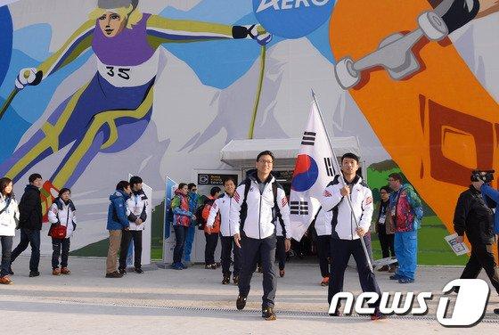 [사진]동계올림픽 선수단 소치 도착