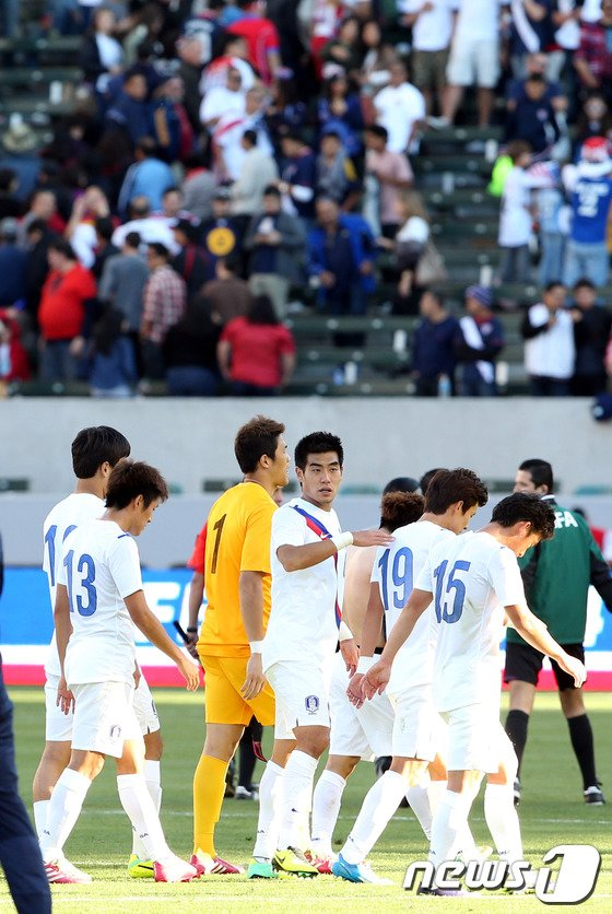 [사진]한국, 미국에 또 0-2 완패