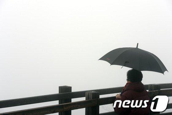 [사진]'안개 때문에…귀경길 걱정이네'