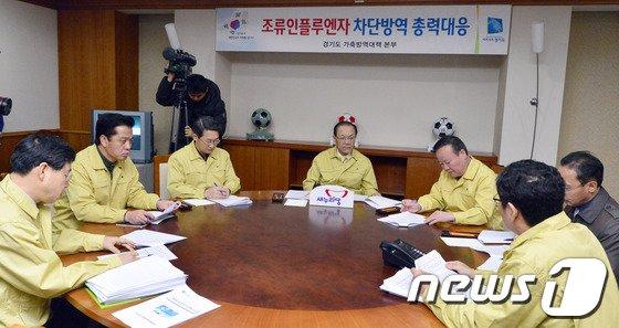 [사진]경기도 AI상황 보고받는 황우여 대표