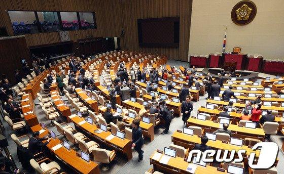 국회 본회의장. 2014.1.1/뉴스1 © News1 오대일 기자
