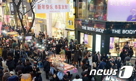 [사진]춘절맞아 한국 찾는 중국인 관광객