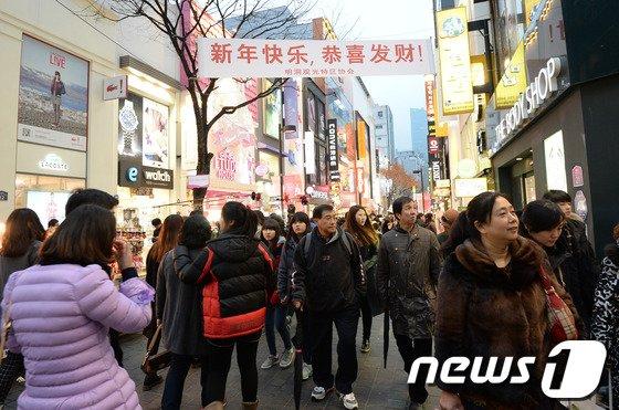 [사진]춘절 맞아 한국 몰려오는 중국인 관광객