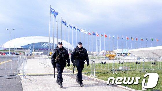 [사진][올림픽]만약의 사태 대비하는 러시아 경찰들