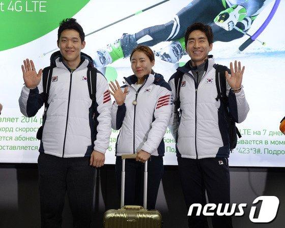 [사진][올림픽]한국 빙상의 간판스타 3인방 소치 입성