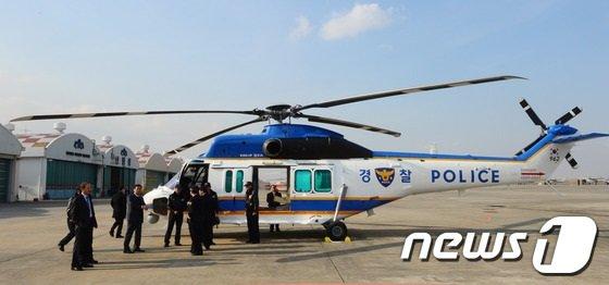 국산 참수리 KUH-1P 소형헬기/사진=뉴스1 양동욱 기자.
