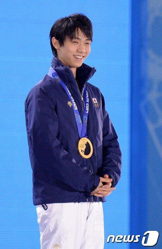 [사진][소치2014]하뉴 유즈루, 日남자 피겨 역사상 첫 올림픽 금메달 획득