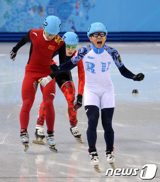 [사진][소치2014]러시아 안현수의 男 500m 금메달