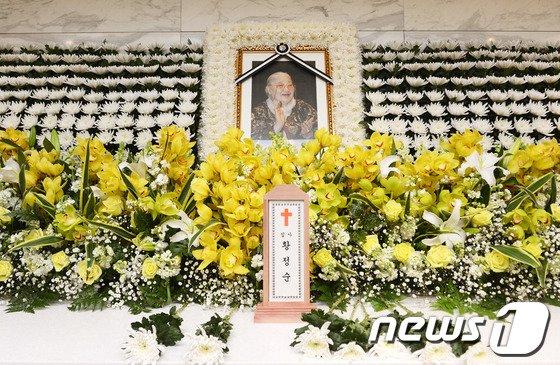 故 황정순 씨의 빈소. 2014.2.18/뉴스1 © News1   사진공동취재단