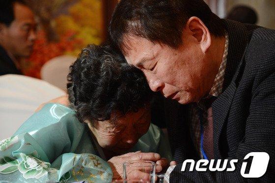 [사진]'남북 남매의 눈물의 이별'
