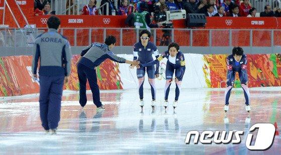 [사진][소치2014]'은빛 레이스' 마친 한국 팀추월 대표팀