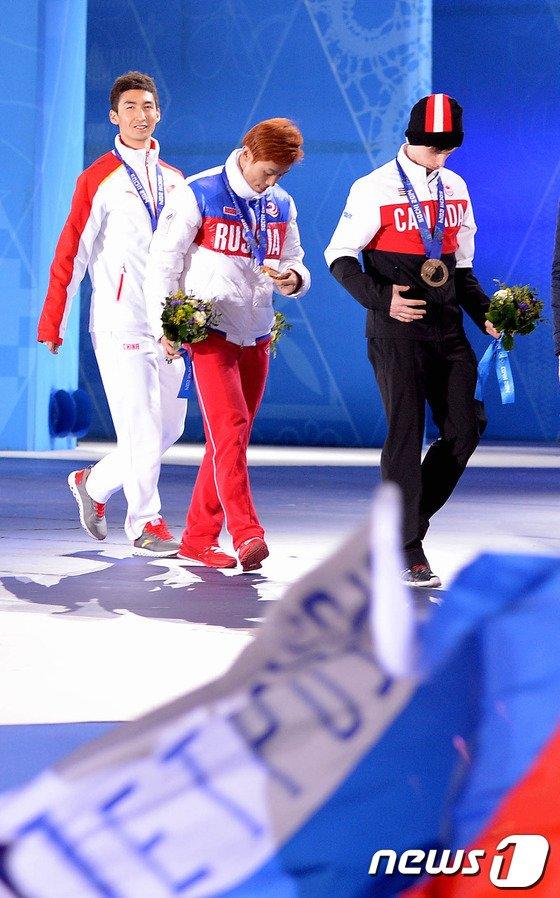 [사진][소치2014]안현수 '세번째 금메달'