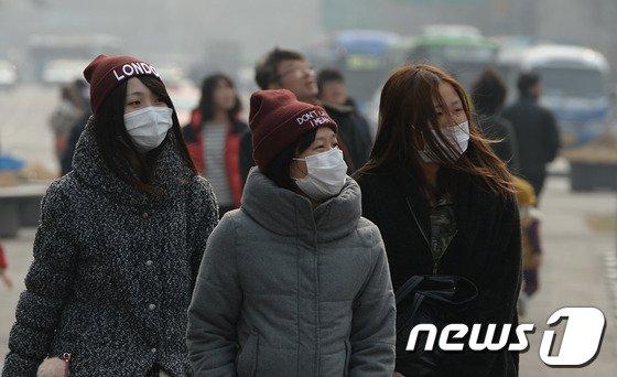 [사진]서울 미세먼지 심각해요