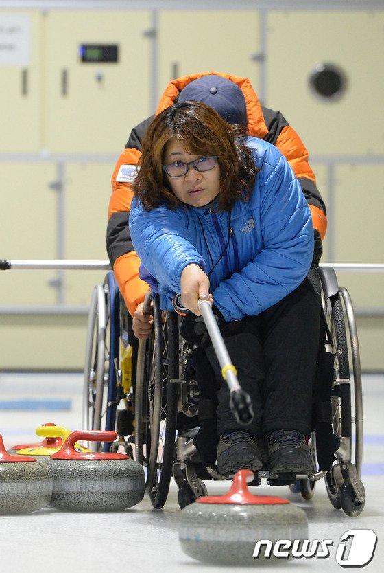[사진]휠체어 컬링 대표팀, 목표를 향해