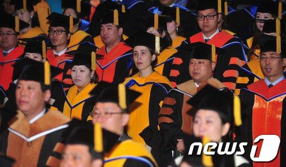[사진]건국대학교 학위수여식