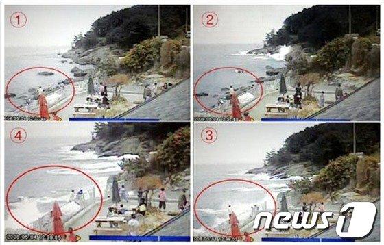 2008년 5월4일 낮12시41분쯤 충남 보령에서 이상파랑이 발생해 9명이 숨졌다.(기상청 제공)© News1   박현우 기자